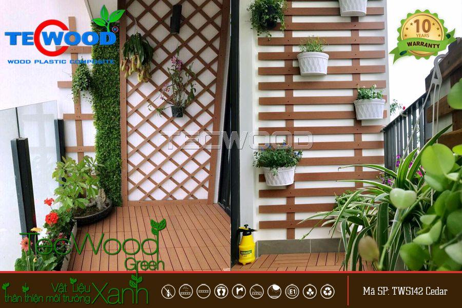 Lót sàn ban công bằng gỗ nhựa TecWood