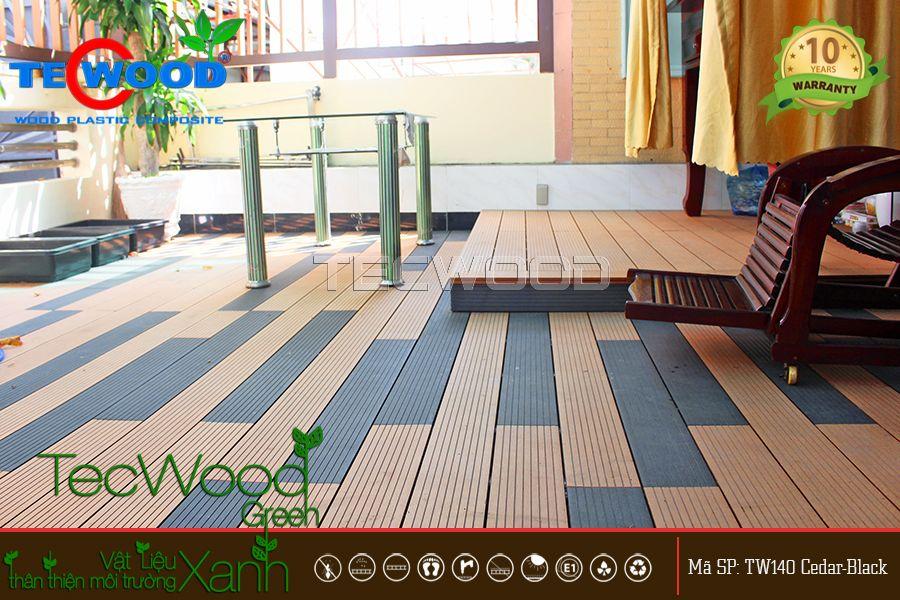 Sàn gỗ nhựa TecWood lót ban công