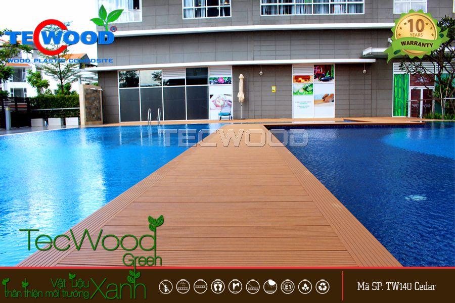 Dự án lót sàn hồ bơi tại chung cư Sunrise City