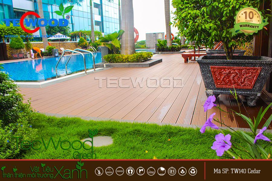 Sàn gỗ ngoài trời là một vật liệu mới bền vững, sang trọng